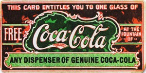 Coca Cola history coupon